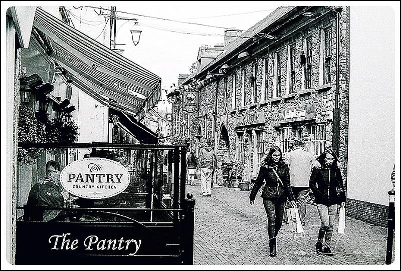 Walkers on a Kilkenny Street