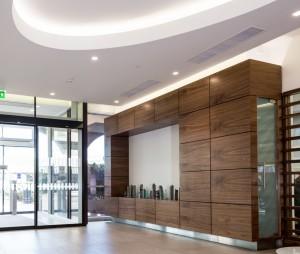 Irish life lobby area designed by John Thompson