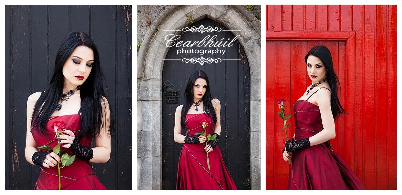 Gothic theme bridal