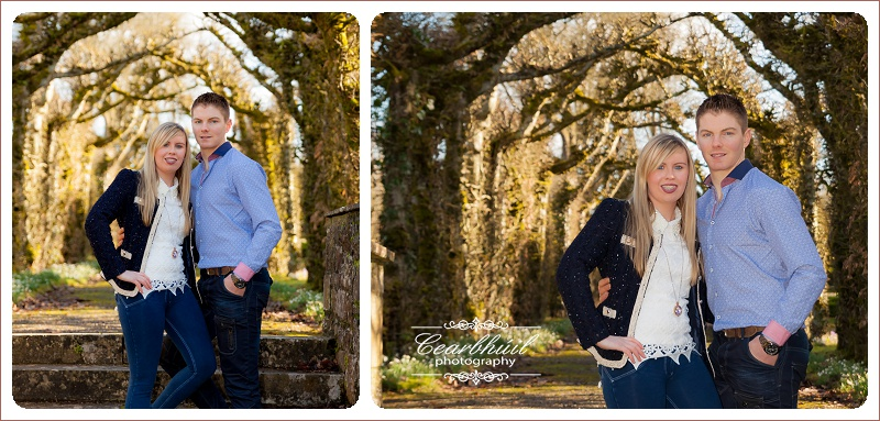 Couple from Co Clare at Birr Castle for Engagement Shoot with Damien Carroll Cearbhuil Studios