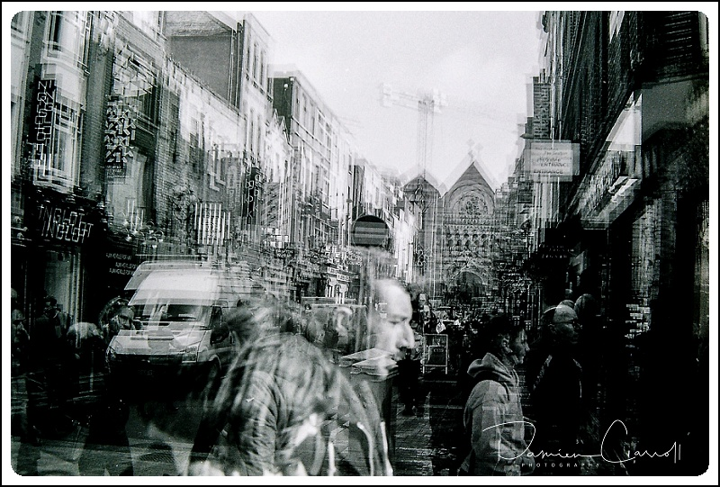 Double Exposure in Dublin City