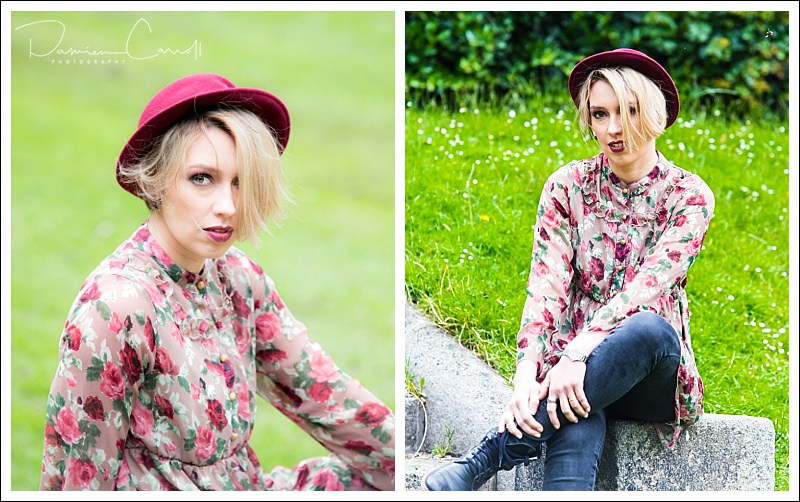Model posing in the Iveagh Gardens