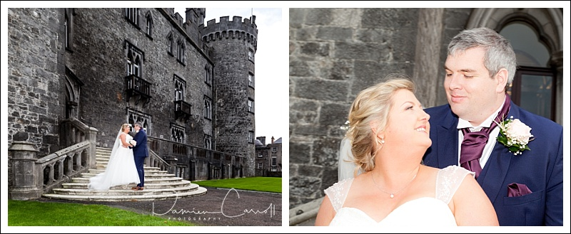 Bride and Groom at Kilkenny Castle