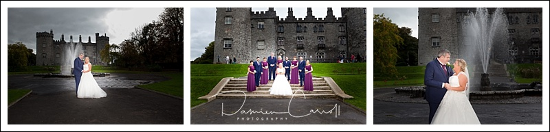 Wedding party in front of Kilkenny Castle