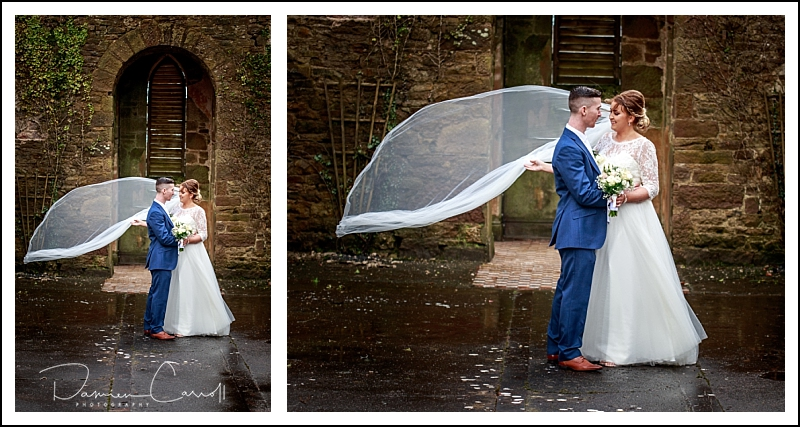 Laois Wedding photography in the grounds of an old church