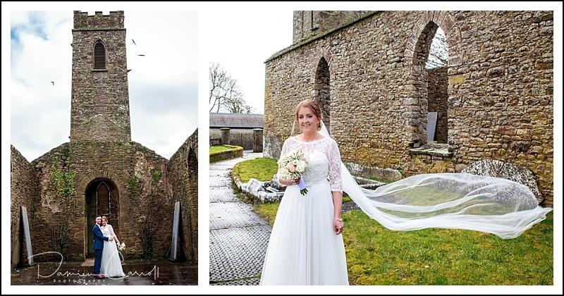 Churchyard wedding photos